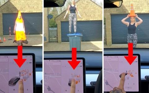 Poniendo a prueba el autopilot de Tesla: ¿Puede distinguir a una persona de <del>Arbeloa</del> una persona disfrazada de cono?