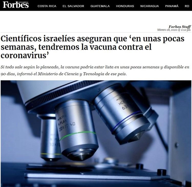 Los israelíes usaron tecnología Simpson para adelantarse al virus: Dicen que ya tienen una vacuna y que estará disponible en 3 meses