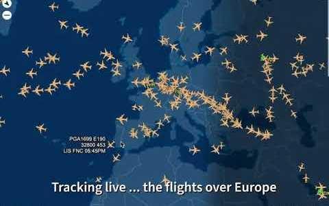 Tráfico aéreo sobre Europa vs tráfico aéreo sobre Estados Unidos