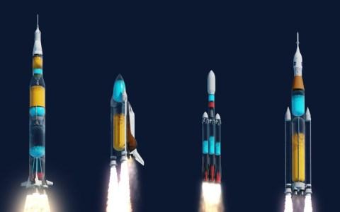 Así se verían los cohetes si fueran transparentes