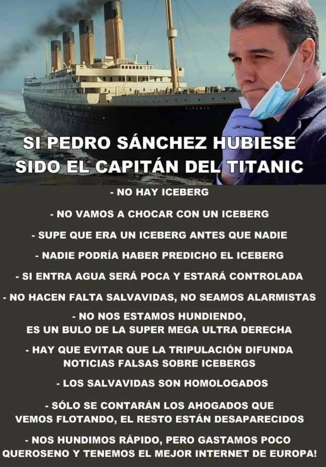 Titanic, pero capitaneado por PDRO SNCHZ