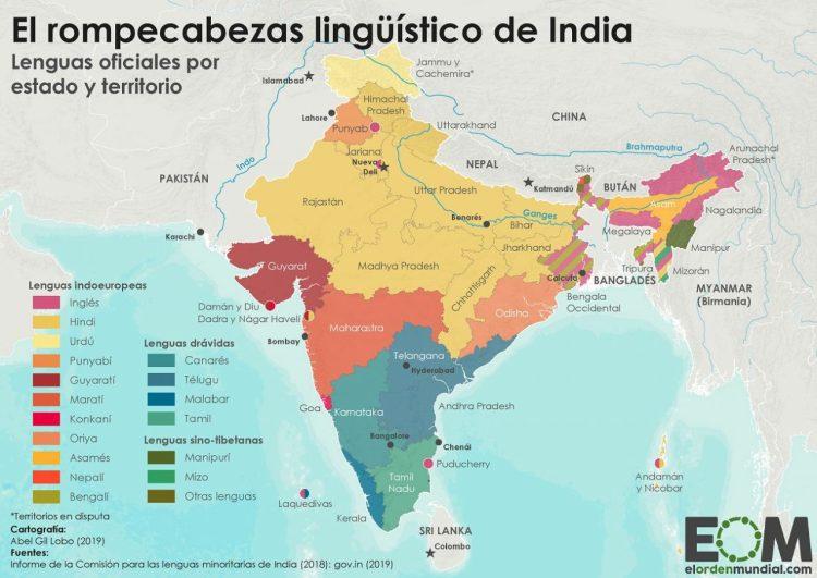 ¿Sabías que en India se hablan más de 18 idiomas distintos?