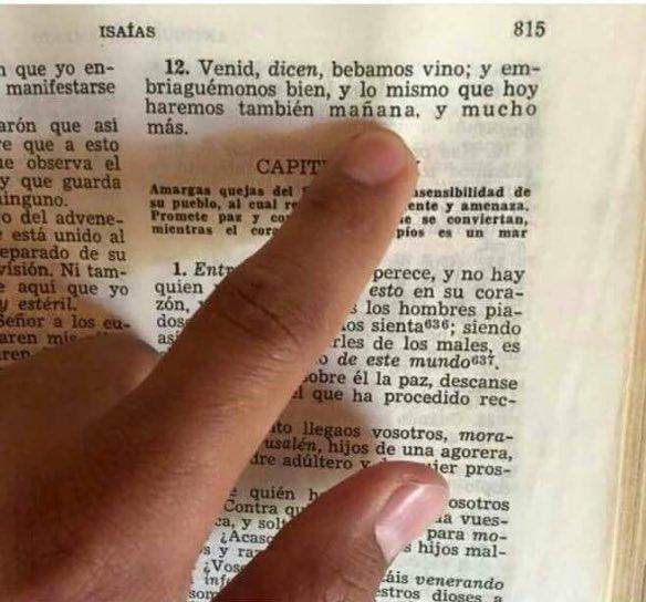 No lo digo yo, lo dice la Biblia...