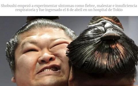 Muere un luchador de Sumo por coronabicho con solo 28 años