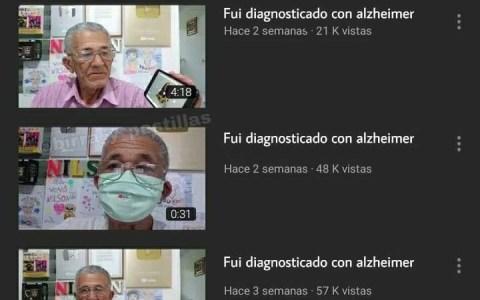 """Fui diagnosticado con alzheimer"""