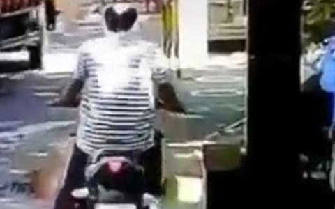 Igual usar soluciones alcohólicas para desinfectar motos en marcha no es la mejor idea...