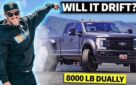 ¿Puede driftear una camioneta de dobles ruedas traseras?