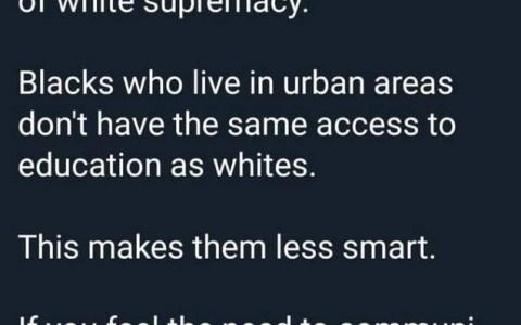 """""""Hablar bien, de forma culta, es otra forma de supremacismo blanco. No todos los negros tienen acceso a la educación y no nos entienden"""""""