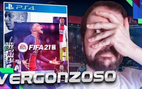 La nueva portada mierder del FIFA 21