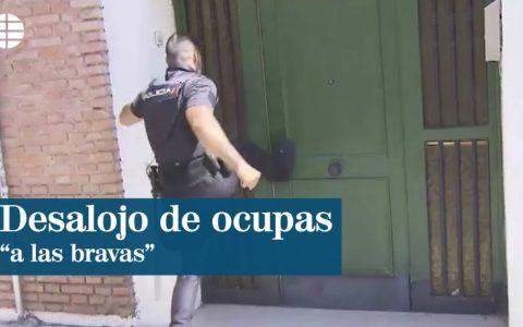 """""""Desalojo de ocupas a las bravas""""... El título está mal. Yo lo que veo es a la policía haciendo su trabajo interviniendo en un allanamiento de morada."""