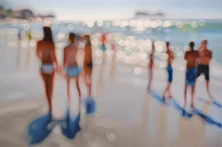 Philip Barlow muestra en sus cuadros el mundo brumoso en el que viven los miopes.
