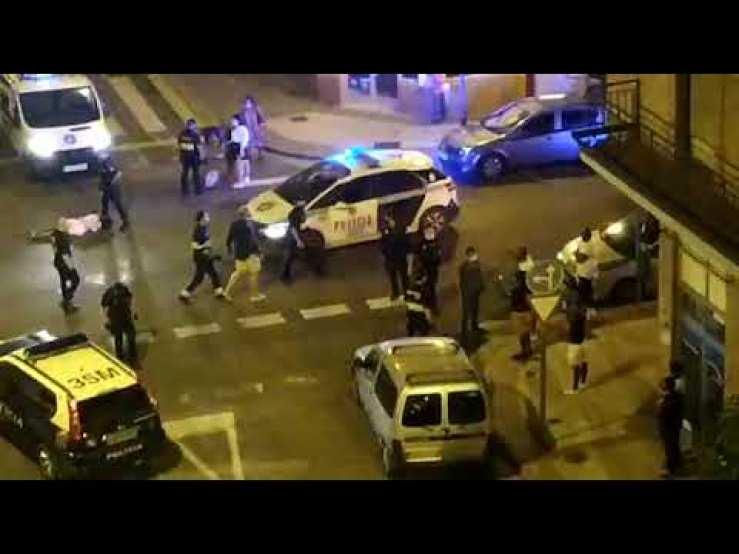 Desalojo policial en un bar de Logroño
