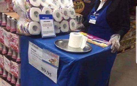 ¿Degustación de papel de váter? ¿Por qué lleva guantes de plástico?