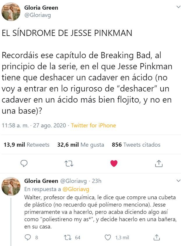 ¿Conocías El síndrome de Jesse Pinkman?