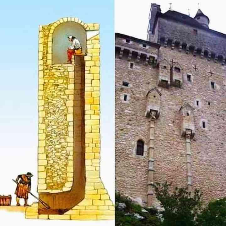 Así eran los cagaderos de algunos castillos