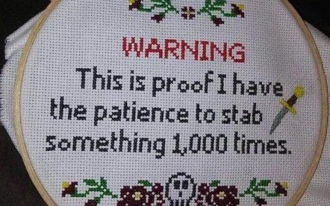 CUIDADO: Esta es la demostración de que tengo paciencia para clavar algo más de 1000 veces