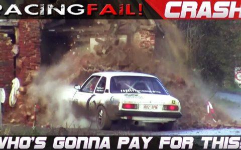9 minutos de coches de rally estrellándose contra casas