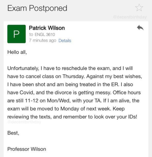 """""""Acabo de recibir este email-montaña rusa de uno de mis profesores"""""""