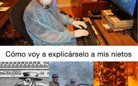 """""""Pandemia, virus, cuarentena"""", suena tan peliculero..."""
