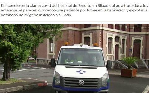 Liadita en el hospital de Bilbao: Explota la planta en la que estaban los pacientes con corona