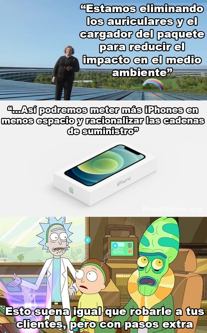 Gracias Apple por pensar en el medio ambiente...