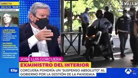 Corcuera (exministro socialista) sufre un amago de infarto en pleno directo