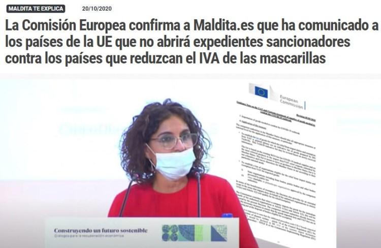 ¿Por qué estamos pagando tanto IVA en España por comprar mascarillas?