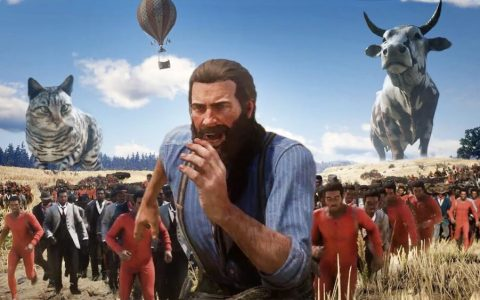 Red Dead Redemption 2: vídeo completo con el mod de los animales gigantes (y enanos)