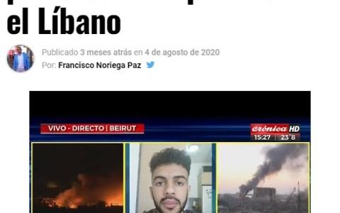 Tu apenas has salido de casa en todo el 2020 y este tío lo mismo te roba una bici en Barcelona que te causa una explosión en Beirut