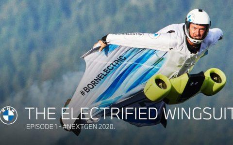 BMW crea el motor de asistencia para WingSuit con el que se podrá ganar altura y velocidad