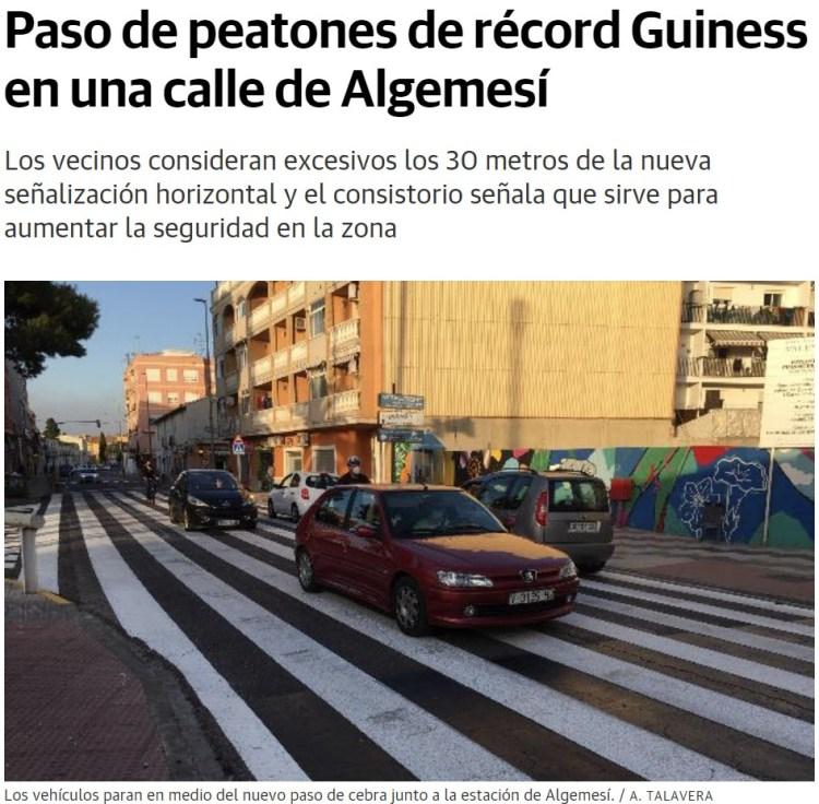 ¿Sabías que en Cartagena hay una calle con 24 pasos de cebra en solo 800 metros?
