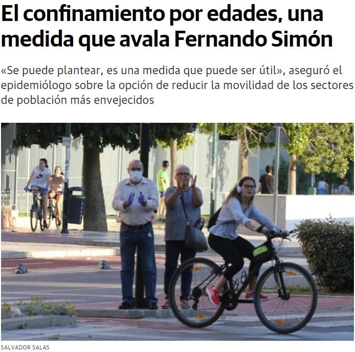 """Confinamiento por edades: Los mayores encerrados y los """"jóvenes"""" libres"""
