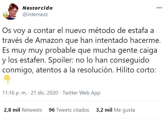 Ojo a esta forma de estafa que está proliferando en Amazon