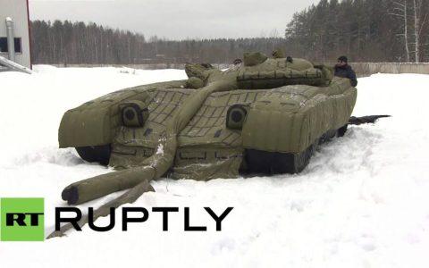 """Los rusos también tienen sus propios """"Tanques NPC"""" hinchables para hacer bulto"""