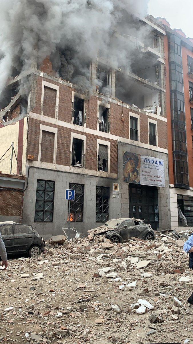 Imágenes de la explosión en Madrid