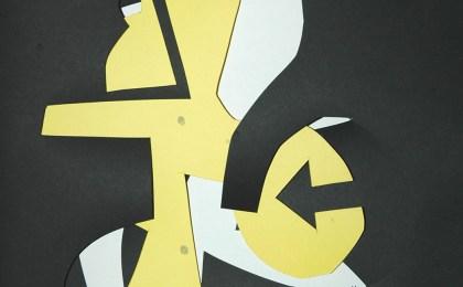 Freddie Freeloader 3/   Papel recortado/    33x25cm/    2005