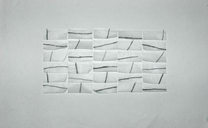 Parábola dos cegos/    Lapis Conté e papel de fumar sobre papel/    50×70 cm/    2006