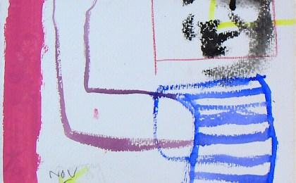 Porgy/   Mixta sobre papel/   23×25 cm/   2005
