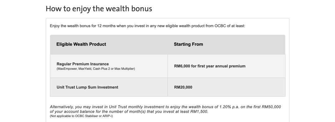 OCBC Booster Account
