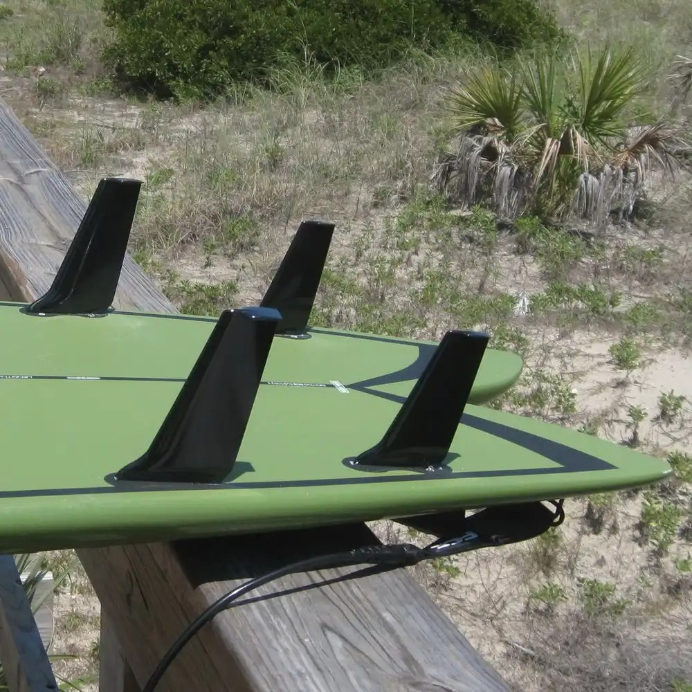 "5.7"" and 4.8"" fins in a quad setup on a SUP board-6"