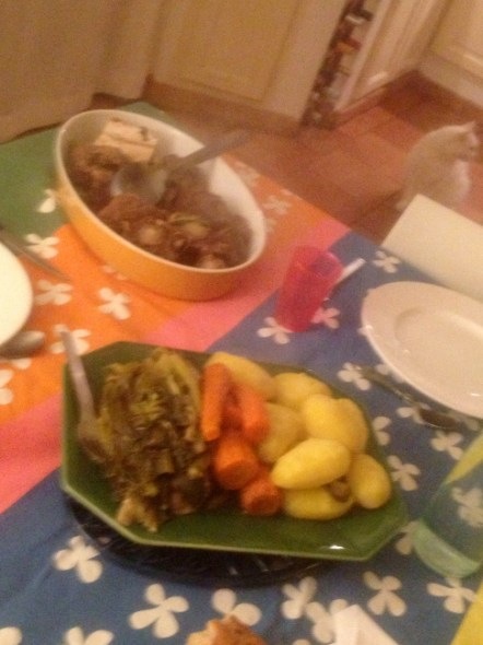 My first home cooked French meal- pot de fue- like pot roast!