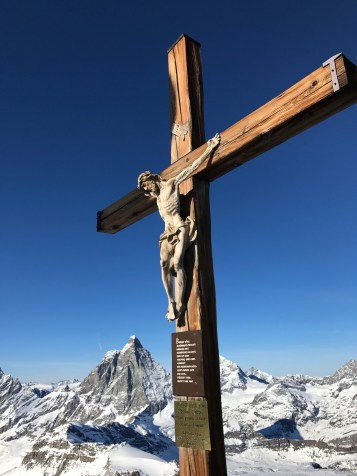The cross of Christ in the Glacier Paradise
