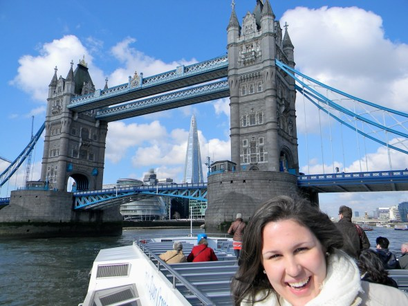 """Here I am. With the """"Tower bridge,"""" not the """"London bridge."""" Whatta let down."""