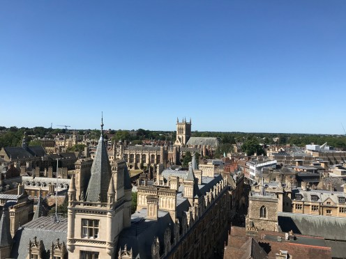 View from the top of Great St. Mary's Church Cathedral