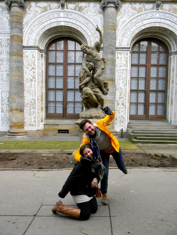 We're being the statues! Get it?