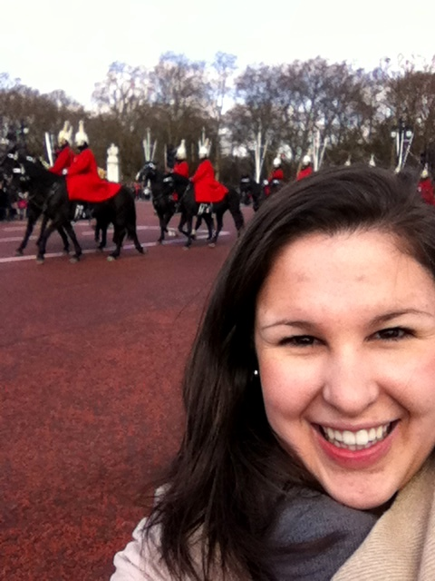 Changing of the guards at Buckingham palace-- where the queen goes to the bathroom.