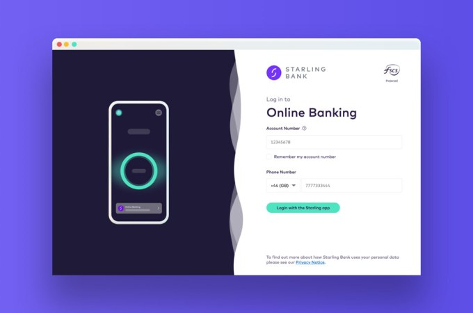 Starling rolls out Online Banking