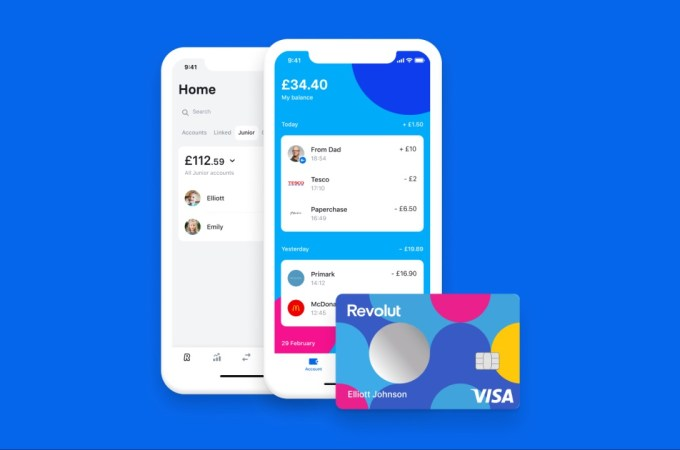 Revolut Junior adds 'co-parents' feature