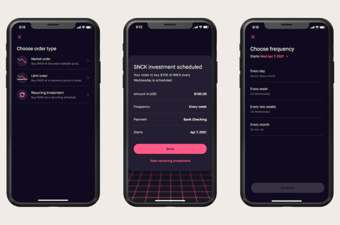 Robinhood Launches Crypto Recurring Investments