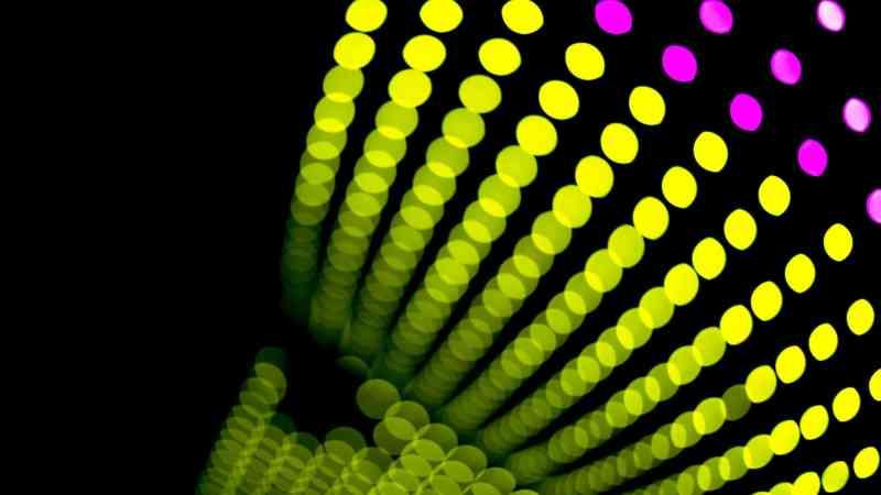 green light bokeh